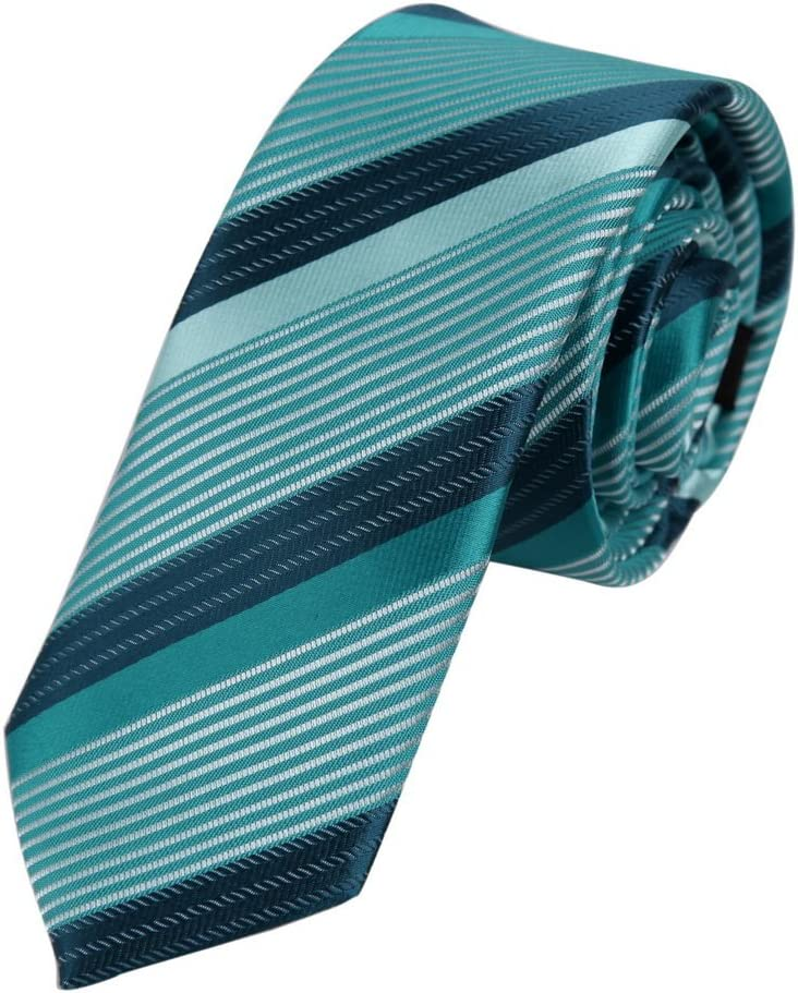 PS1092 Black Certificate Slim Tie Matching Gift Box Set Stripes Fashion Tie Discount For Bridegrooms By Epoint