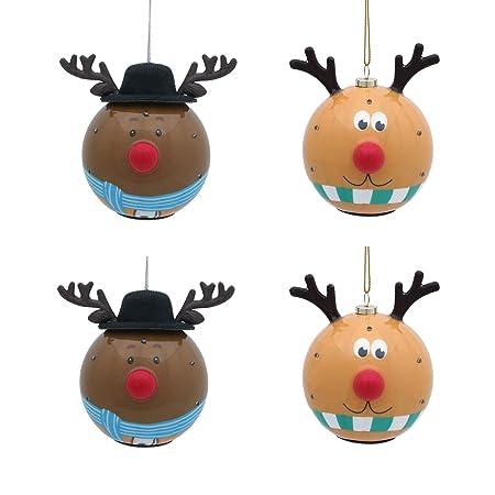 Valery Madelyn - Bola de Navidad de 4 CT, 80 mm, diseño de Elfo ...
