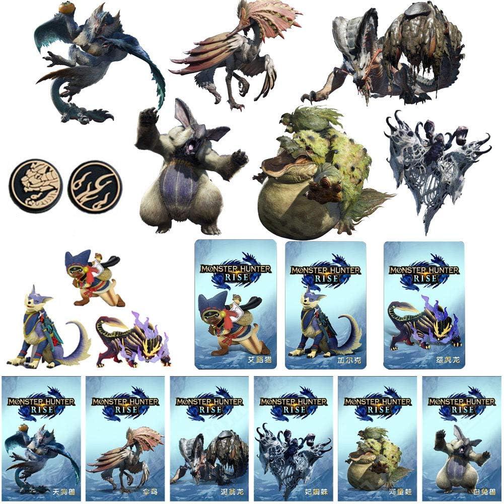(9 개)괴물 사냥꾼을 상승 NFC AMIIBO 미니 카드를 포함한 분노 드래곤 AILUCAT GARK 스틱 기타 괴물과 호환 스위치   라이트 스위치   새로운 3DS