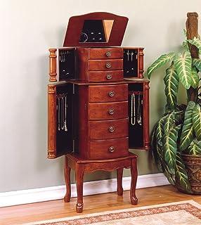 Amazoncom Northwoods Log Jewelry Chest Honey Pine Home Kitchen
