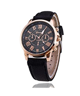MISSDIVA Mode Montre pour Femme et Homme Amoureux couple Quartz Nouveau style mince simple Bracelet en cuir analogique cadran rond mode fashion watch
