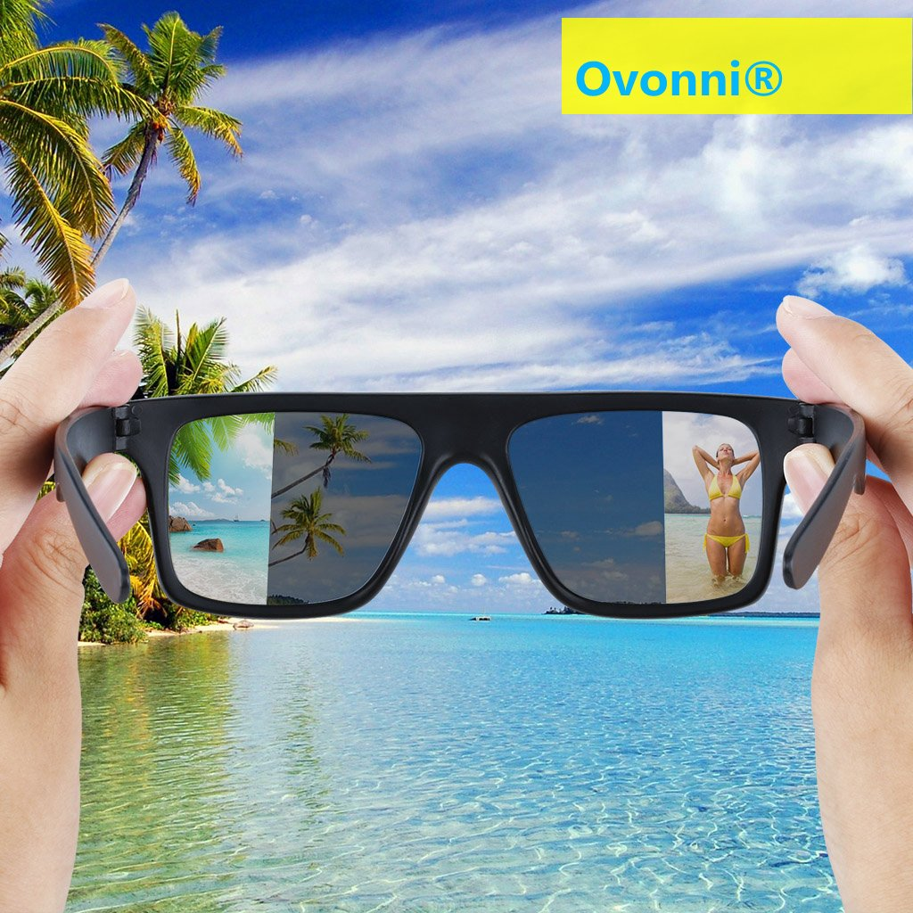 cec0a857337 Amazon.com  Ovonni Rear View Sunglasses Vintage   Retro Style Sunglasses -  Creative Cool Gadget to See What s Behind You - Summer Beach Party Magic ...