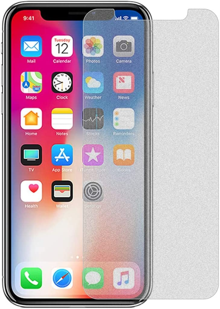 No Retail Package GzPuluz Glass Protector Film 50 PCS Matte Frosted Tempered Glass Film for iPhone X//XS//iPhone 11 Pro