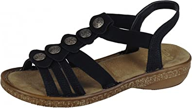 senast bästa service skridsko skor Rieker Women's Sandal 62866-00 Black: Amazon.co.uk: Shoes & Bags