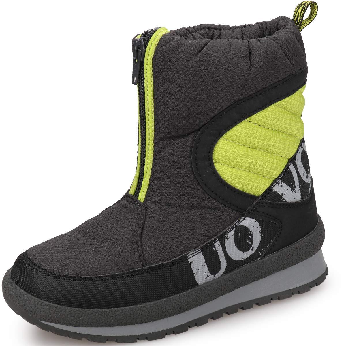 UOVO Boys Snow Boots Boys Winter Boots for Kids Waterproof Winter Shoes for Cold Weather Slip Resistant Warm Outdoor (Little Kids/Big Kids)