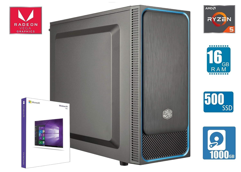 CEO Epsilon V5 - Business-Desktop - RYZEN 5 QUADCORE 4X 3.9 ...