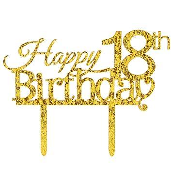 Amazoncom INNORU  Happy Th Birthday Cake Topper  Happy - Happy birthday 18 cake