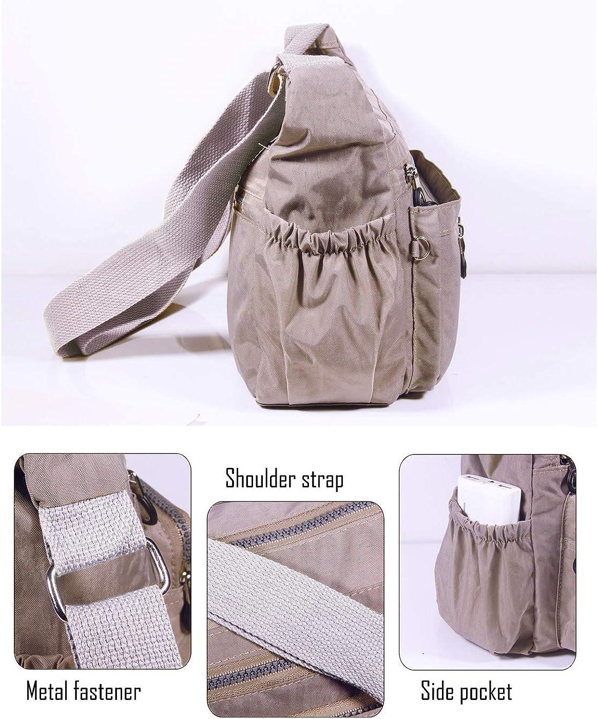 ABLE Women Anti Splash Water Shoulder Messenger Crossbody Bags