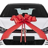 Lisellion® Lus voor auto, 18e verjaardag auto, grote geschenkstrik, reuzenstrik voor auto, rode strik auto…