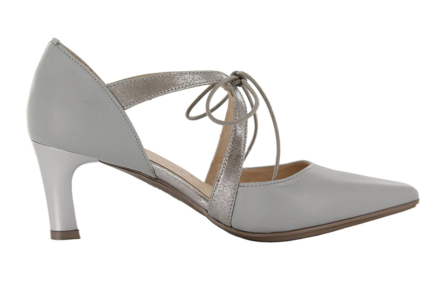 Hispanitas Pumps Spitz Grau (Grey Magic Acero) Leder: Amazon.de: Schuhe &  Handtaschen