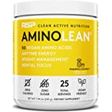 RSP Vegan AminoLean – All-in-One Natural Pre Workout, Amino Energy, Weight Management with Vegan BCAAs, Complete Vegan Prewor