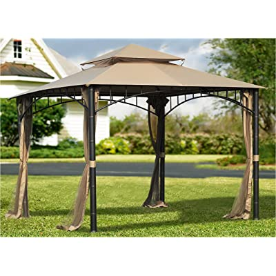 Sunjoy 110109382 Original Replacement Canopy (Deluxe Version) for Madaga/Havana Gazebo (10X10 Ft) L-GZ136PST-2/7/9 Sold at Target/CTC, Khaki: Garden & Outdoor