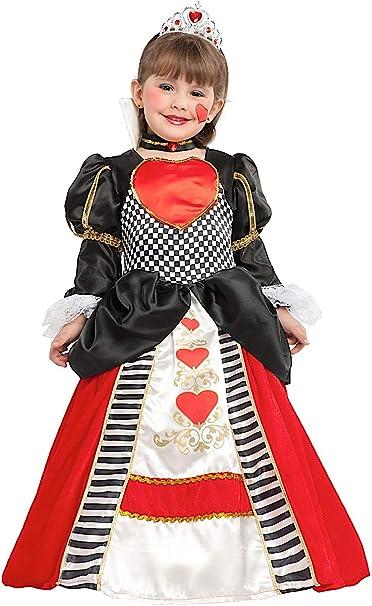 VENEZIANO Disfraz BEB Reina DE Corazones Vestido Fiesta de ...