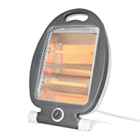 Wellgro® Infrarot Heizstrahler - 2 Leistungsstufen 400 oder 800 Watt, 37 x 25 x 15 cm (HxBxT), weiß/grau, Überhitzungsschutz, Umkippschutz, Tragegriff