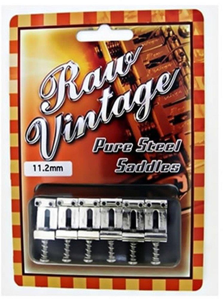 Raw Vintage RVS-112 11.2mm Fender USA Type Steel Saddles