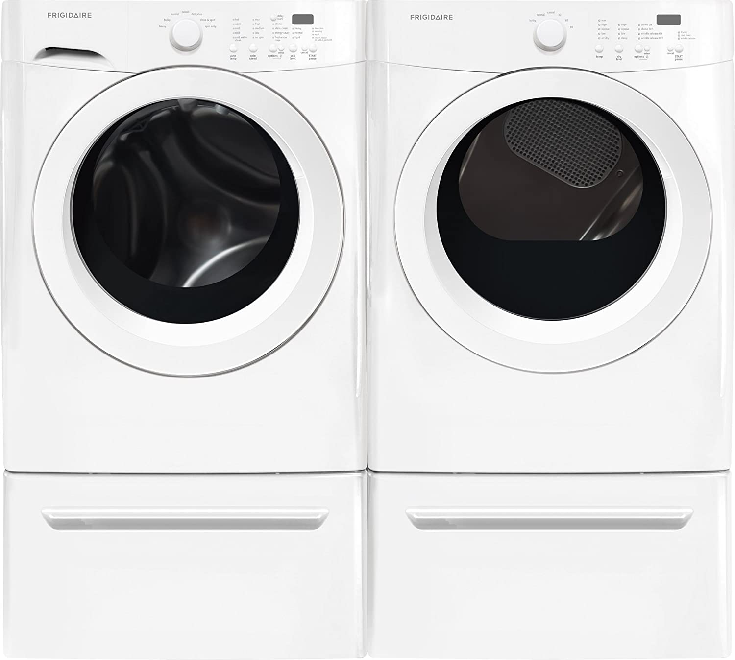71P8GGxiaRL._SL1500_ amazon com frigidaire white front load laundry pair with  at crackthecode.co