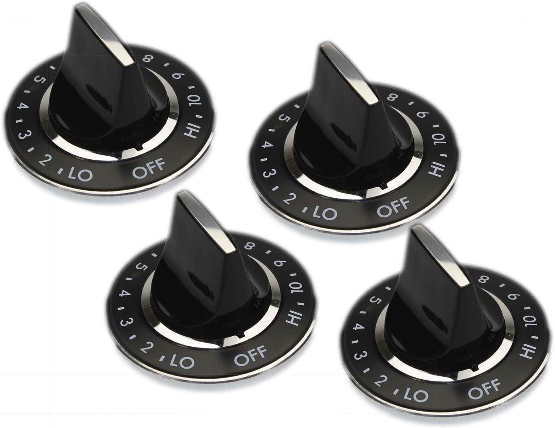 """4 X 700854 /""""D/"""" Style Burner Knobs Pack of 4 for Jenn Air Range"""