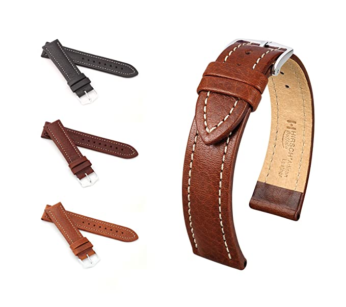 Büffelkalb Modell Mm Schwarz Hirsch Buffalo 20 Unisex Uhrenarmband kXnOP80w