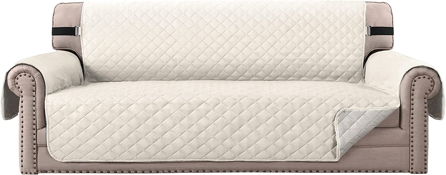 H.VERSAILTEX Sofa Protector for Dogs/Cats/Pets Sofa Slipcover Quilted Furniture Protector with Non Slip Elastic Strap Water Resistant Sofa Covers Couch Covers Seat Width: 78