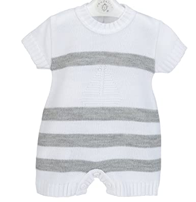 d431d2ad5 Dandellion Baby BOY Boat Knitted Spanish Romper (3-6months): Amazon.co.uk:  Clothing