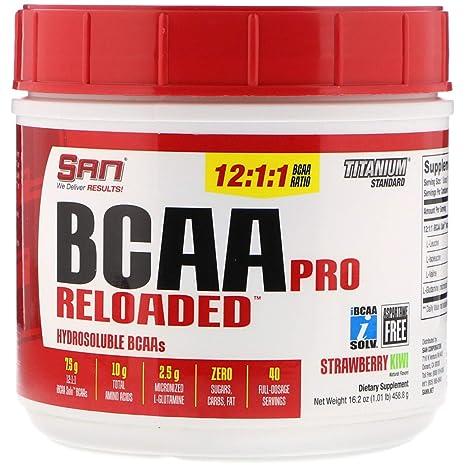 Amazon.com: SAN Nutrition BCAA Pro - Fresa Kiwi reloaded ...