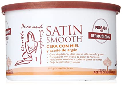 Satin Smooth Crema Depilatoria de Miel y Aceite de Argán - 400 ml