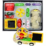 Winkeyes Electronic Circuits Building Blocks, Science Kit, Electronics Kit with Experiments Discovery for Kids, DIY Educational Circuit Board Learning Toys with Sound Light