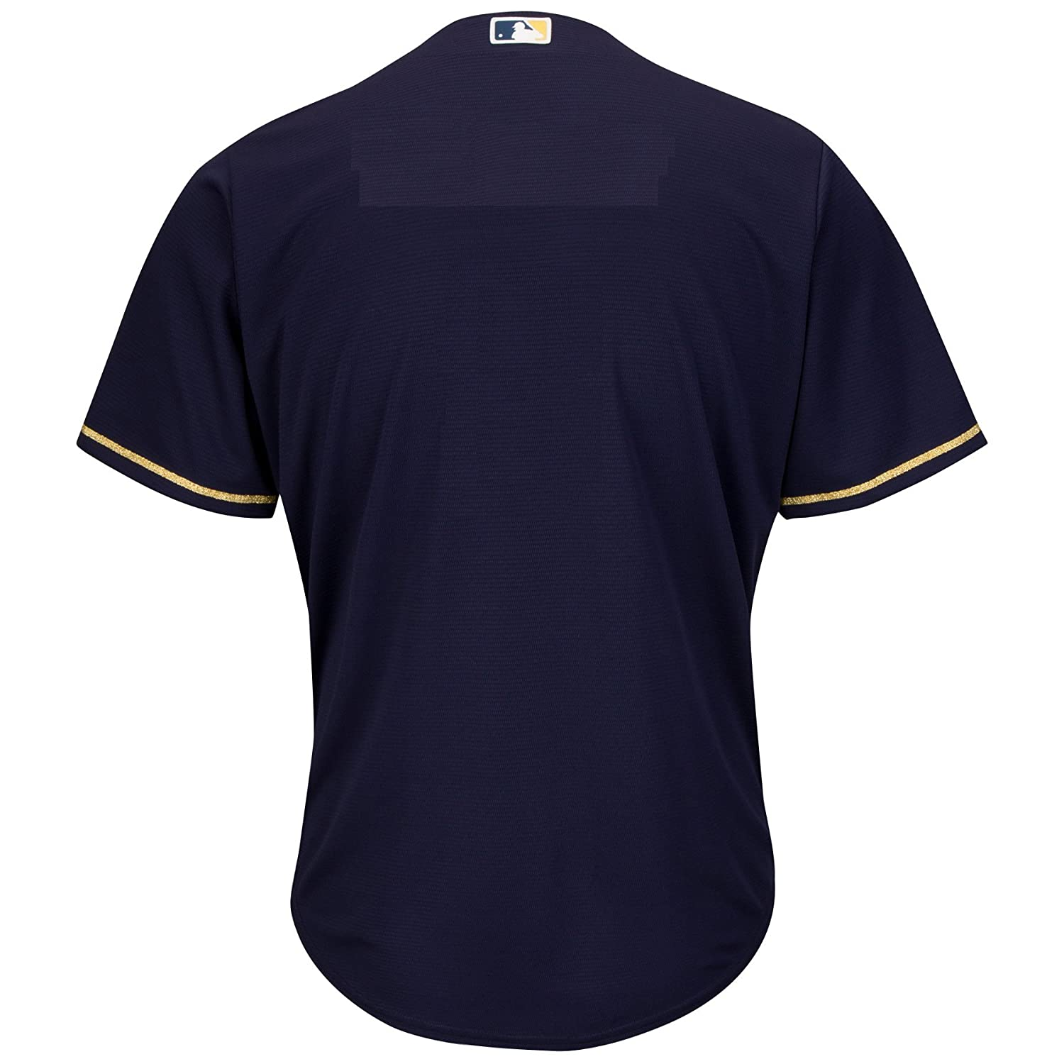 173dd55caf3 Amazon.com : Milwaukee Brewers Youth Cool Base Alternate Team Jersey Navy ( Youth Large 14/16) : Clothing