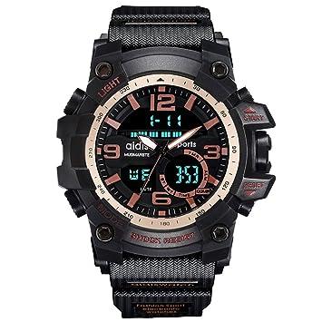 Amstt Digital Analog Reloj Deportivo Resistente al Agua Reloj de Pulsera LED Digital Reloj con Alarma
