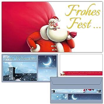 Weihnachtskarten Beschriften.12er Set Weihnachtskarten Santa Claus Mit Umschlägen Edle Frohe Weihnachten Karten Mit Lustiger Karikatur Für Privat Und Geschäft Von Breitenwerk