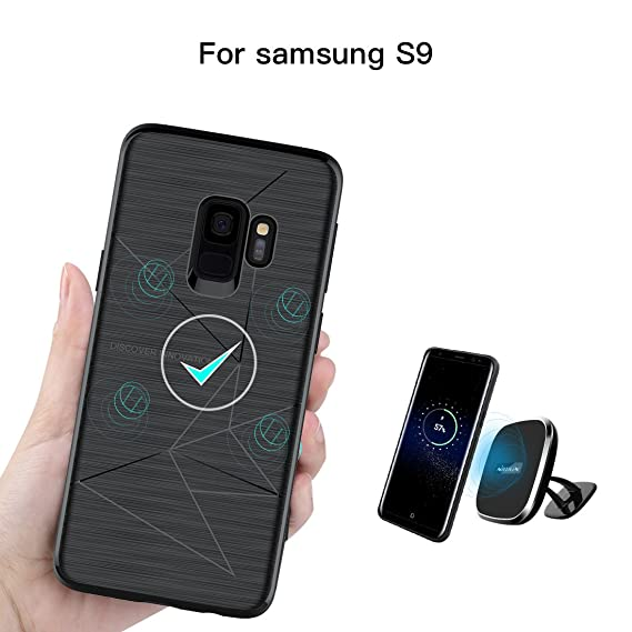 pick up deea3 b4e9c Samsung S9 Case, Nillkin [Magic Case] Ultra Thin Magnetic Protective Case  Built in Strong Magnetism for Wireless Car Charger Shock Absorbing Soft TPU  ...