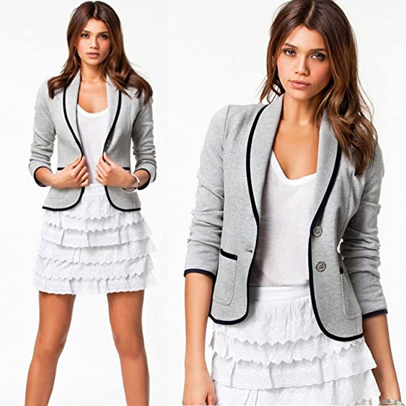 Amazon.com: vavomy Cardigan Sweaters for Women Business Coat Blazer Suit Long Sleeve Tops Slim Jacket Outwear Size S-6XL: Clothing