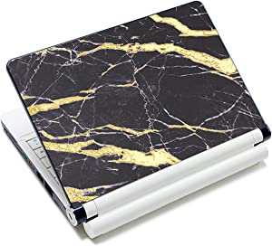 """Laptop Skin Sticker Decal,12"""" 13"""" 13.3"""" 14"""" 15"""" 15.4"""" 15.6"""" Laptop Skin Sticker Protector Cover for Toshiba Hp Samsung Dell Apple Acer Leonovo Sony Asus Laptop Notebook (Golden Marble)"""
