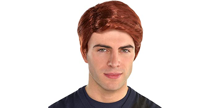 Amazon.com  Amscan Red Hair Wig for Men 0c6ef05f0296