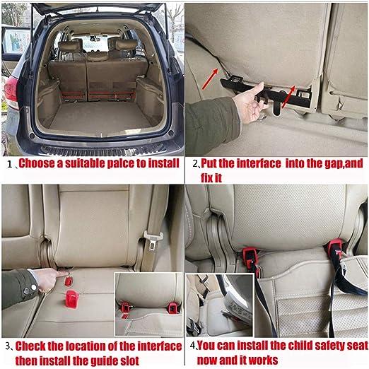 Carrfan Kit de Montaje de Ancla de Restricción de Asiento Infantil para Automóvil Universal para Conector de Correa ISOFIX