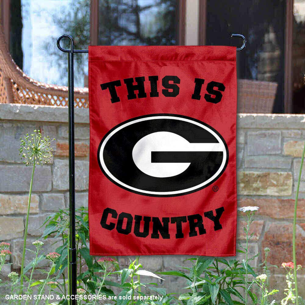 College Flags and Banners Co Georgia Bulldogs This is Bulldog Country Garden Flag