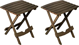 product image for Adams Manufacturing 8500-60-4702 Quik-Fold Side Table, Earth Brown/2 Pack