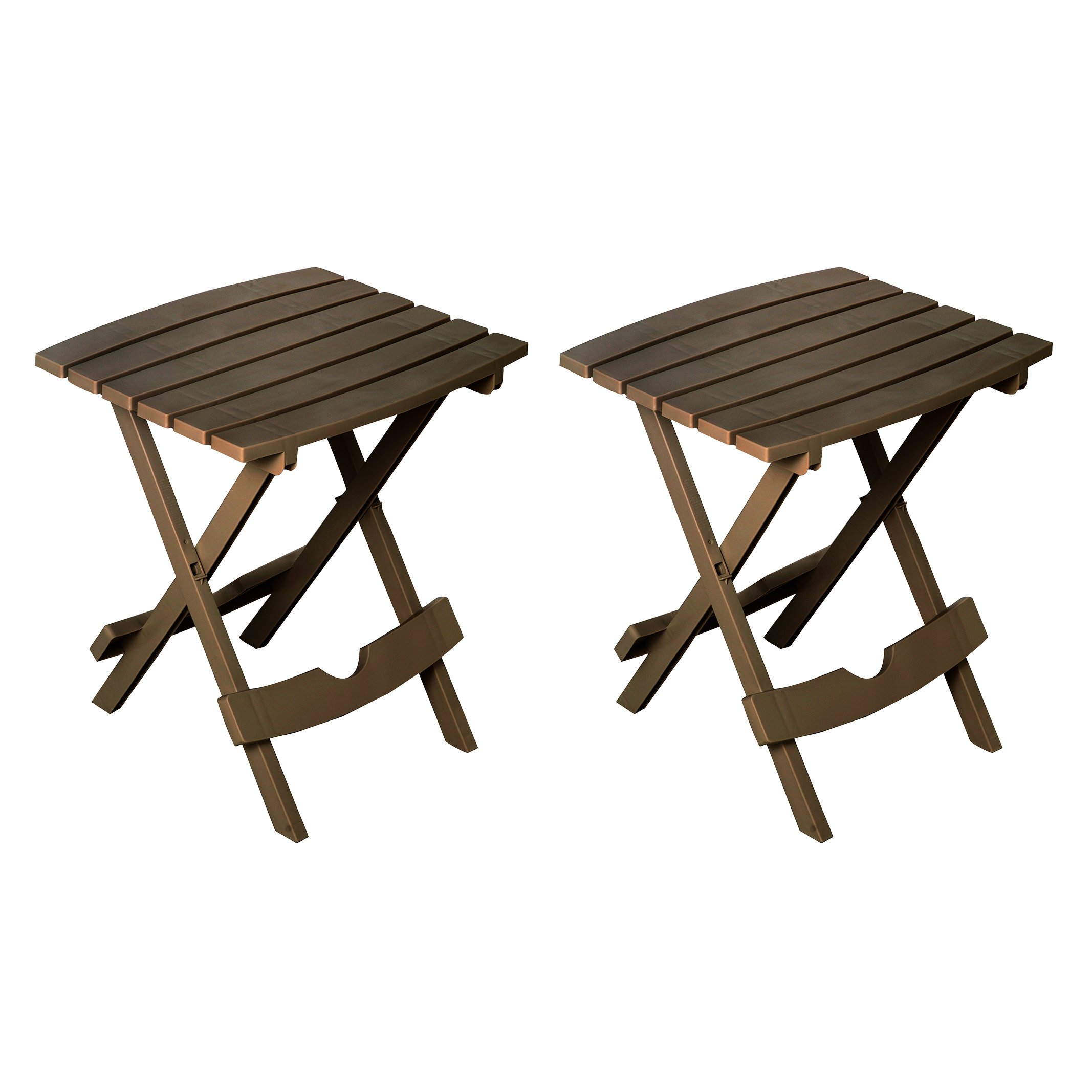 Adams Manufacturing 8500-60-4702 Quik-Fold Side Table, Earth Brown/2 Pack