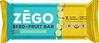 product image for ZEGO Seed + Fruit Bars, Spicy Lemon Ginger, Non GMO, Organic, Vegan, Gluten Free, 38g (Pack of 9)