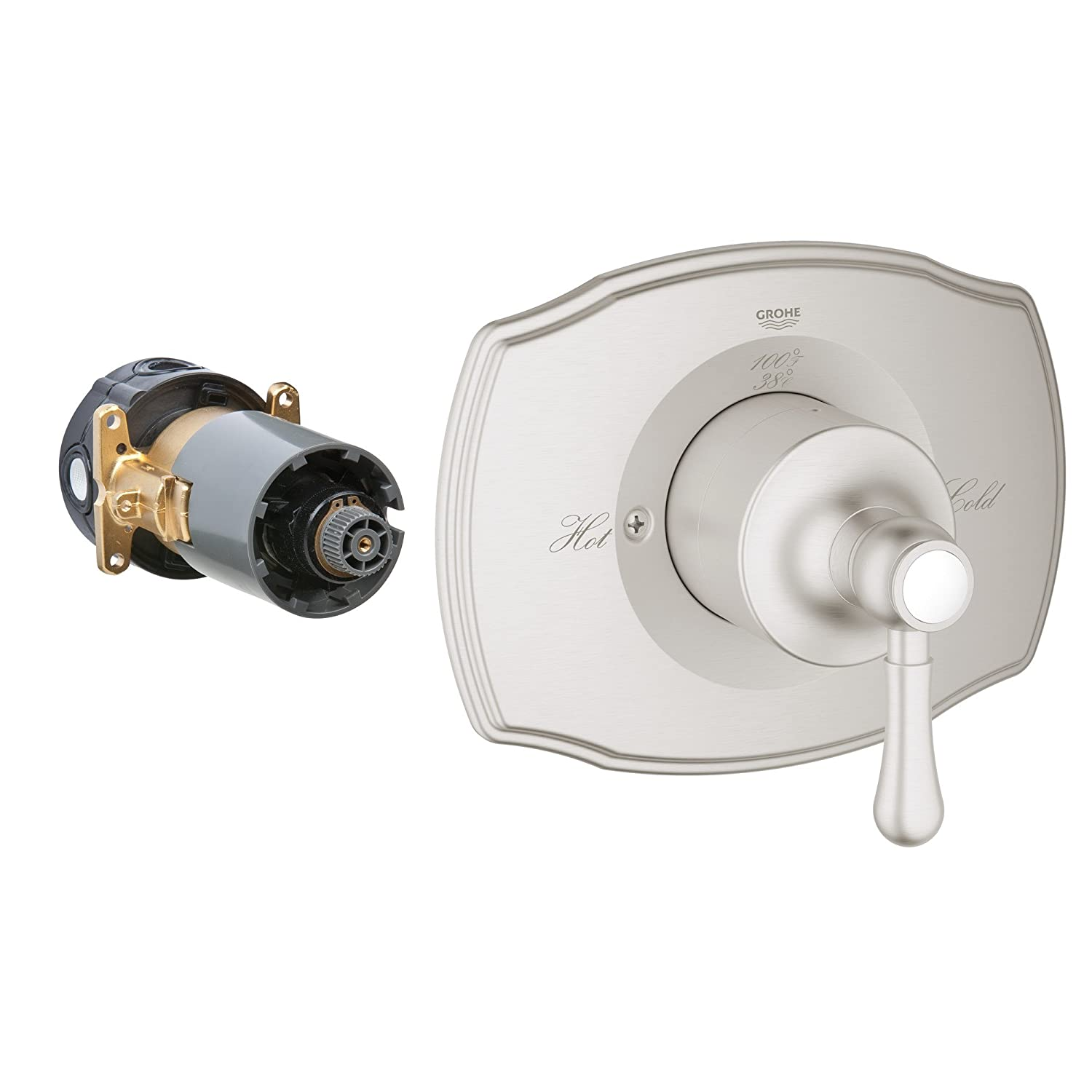Grohflex Authentic Single Function Pressure Balance Trim With Control Module Grohe 19843000