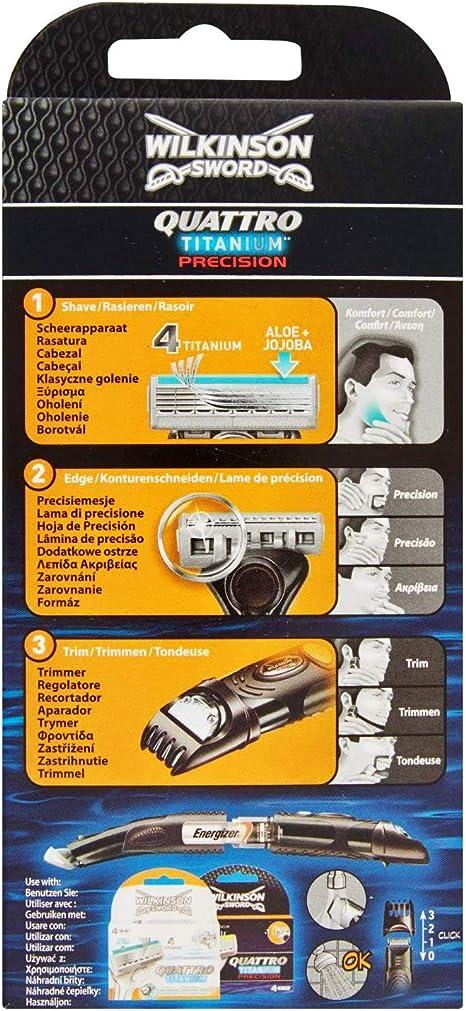 Wilkinson Sword Quattro Titanium Precision - Maquinilla de afeitar ...