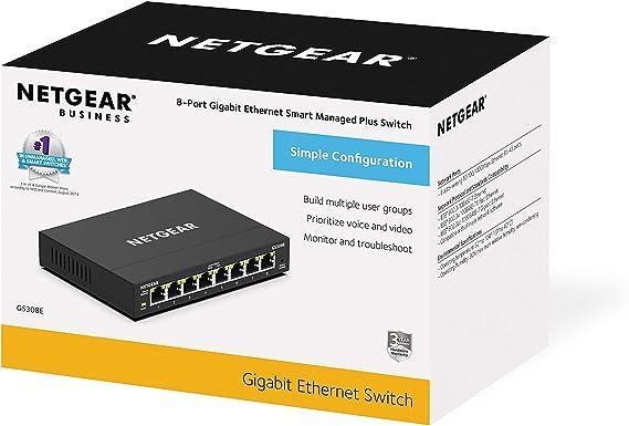Netgear Gs308e 8 Port Gigabit Ethernet Smart Managed Elektronik