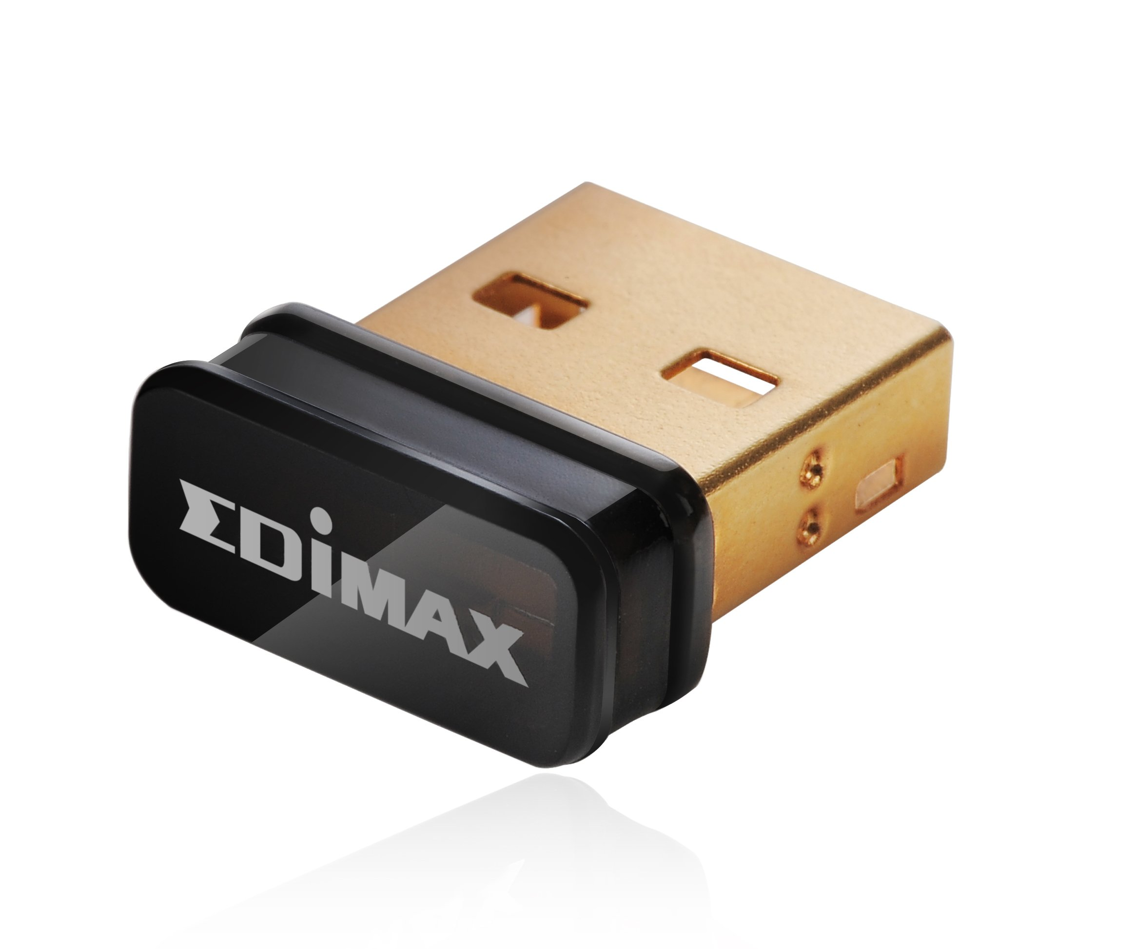 Edimax EW-7811Un 150Mbps 11n Wi-Fi USB Adapter, Nano Size Lets You Plug it and Forget it, Ideal for Raspberry Pi / Pi2, Supports Windows, Mac OS, Linux (Black/Gold) by Edimax