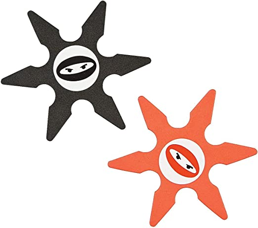 Fun Express Foam Ninja Star Party Favors - 24 pc