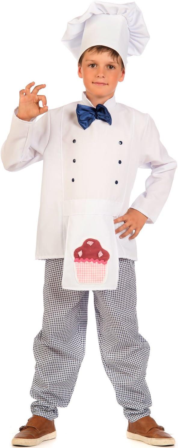 Krause & Sohn Infantil Disfraz Panadero Charlie Cuadros Color ...