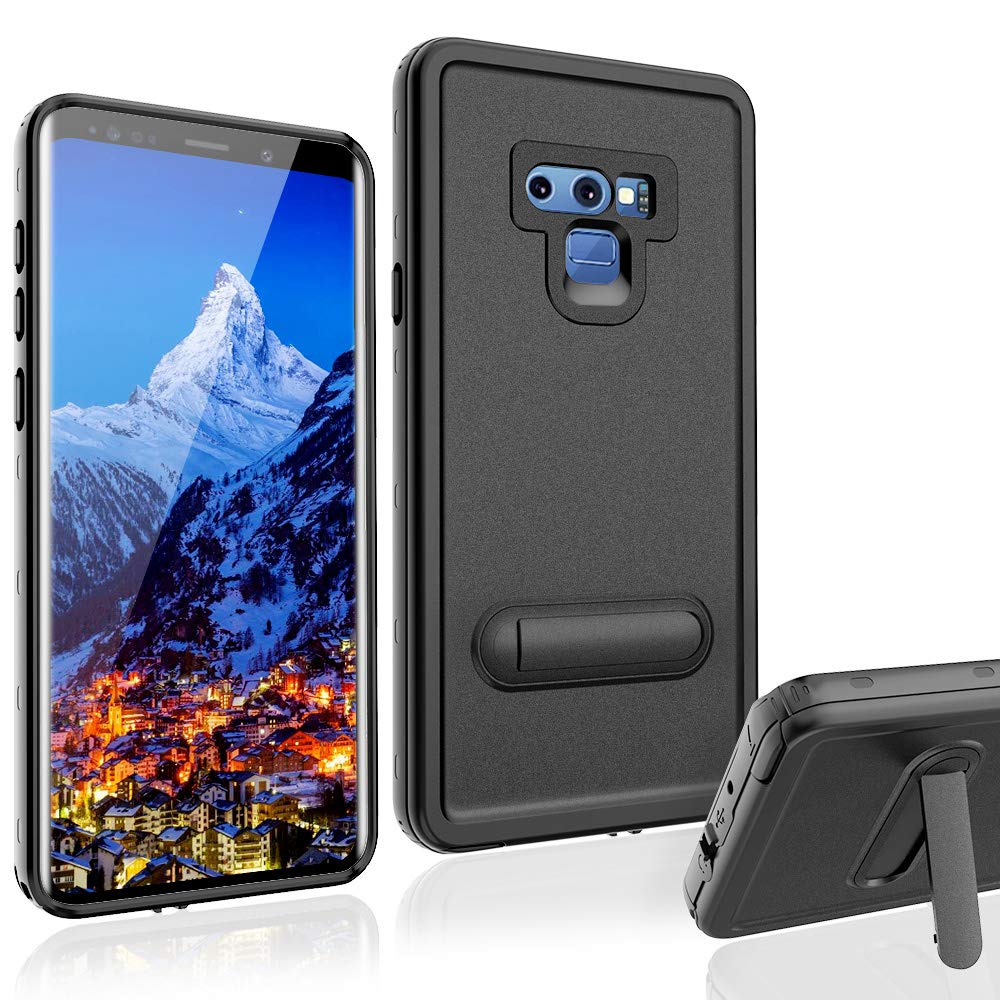 XBK Samsung Note 9 Case, Waterproof Shockproof Snowproof Cover Case Built-in Screen Protector, Full Body Protect Clear Case Samsung Note 9 (6.4