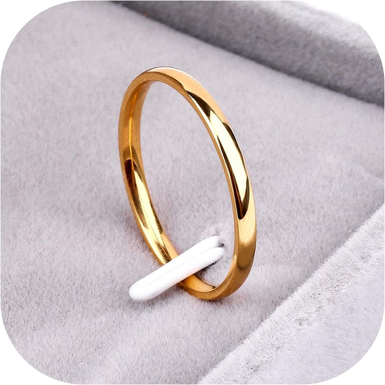Ring Titanium Steel  Rose Gold  Anti-allergy Smooth  Simple Wedding Couples