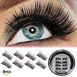 Amazon Price History for:Vassoul 8 Pcs Magnetic False Eyelashes, 3D Fiber Reusable Best Fake Lashes, Natural Handmade Extension Fake Eye Lashes (8 Pieces)