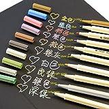 Butterme Metallici Penne, Set di 10 colori per fare carta / Fai Da Te Foto Album / Usa Su Qualsiasi Superficie-carta / Vetro / Plastica / Ceramiche