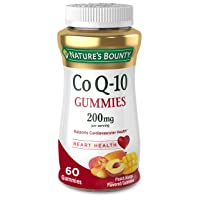 Nature's Bounty CoQ-10 Gummies, Heart Health, 200mg, Peach-Mango Flavored, 60 each